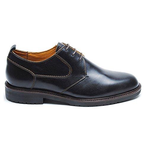 Neil M Hombres Pinehurst Oxfords Zapatos Cuero Negro