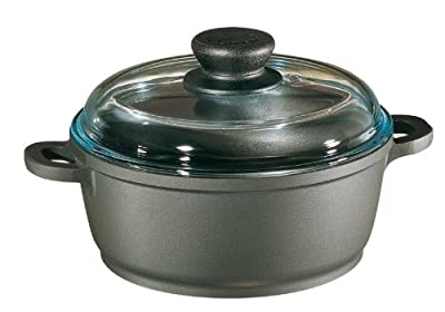 Tradition Dutch Oven w High Dome Glass Lid in Blac