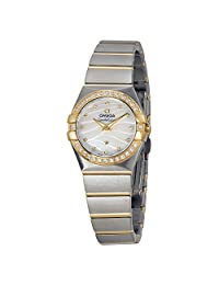 Omega Constellation Steel and Yellow Gold Diamond Ladies Watch 12325246055011
