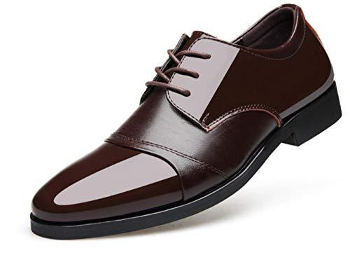 Business Kleid Wies Herbst Brown Single Shiney Schuhe Lackleder Herrenschuhe 0qPYCx7