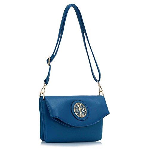 Señoras Transversal Mujeres Los De Las Pequeño Las Diseño 371 Del Tamaño De azul Mensajero Bolso Bolsos A Cuerpo De Bolsos Leahward De Del 5wwzqT
