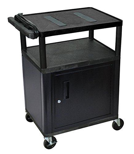 LUXOR LE34C-B Endura A/V Cart with Endura 3 Shelves and Cabinet, (Luxor Endura Video)