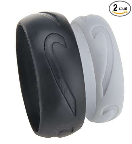 Amazoncom His and Hers Heart Silicone Wedding Rings by Real