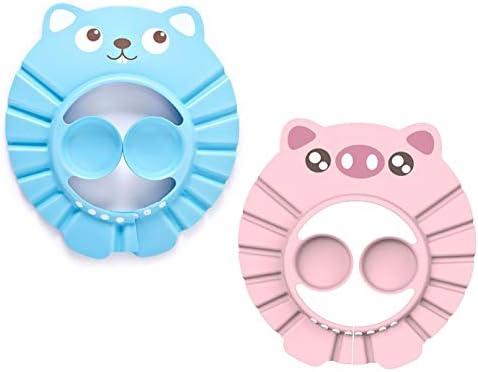 blau rosa Baby Duschhaube,Einstellbare Wasserdichter Baby Duschhaube,Verstellbare Babyparty-M/ütze 2 St/ück s/ü/ße Babyparty-Kappe