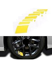 "Car Wheel Decals Stickers, Night Safety Decoration Stripe Universal Reflective Rim Stickers,Universal Fit 18""-21"" Wheels Decoration Line Stickers"