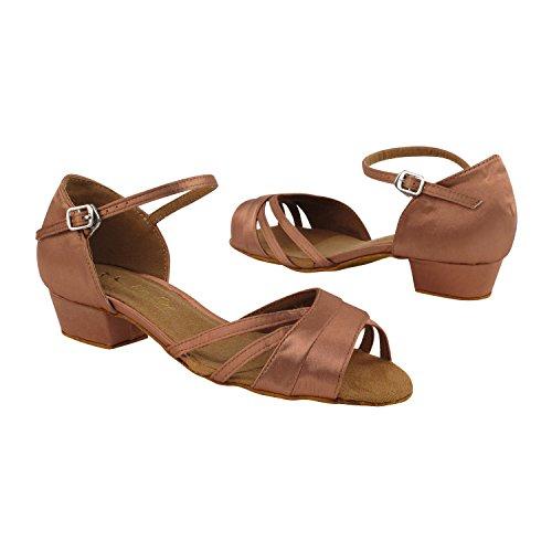 "Gold Taube Schuhe 50 Shades Of 1 ""Low Heel Tanz Kleid Schuhe: Frauen Komfort Ballsaal, Latin, Tango, Salsa, Schaukel, Praxis, Kunst von Party Party 6030 - Tan Satin"