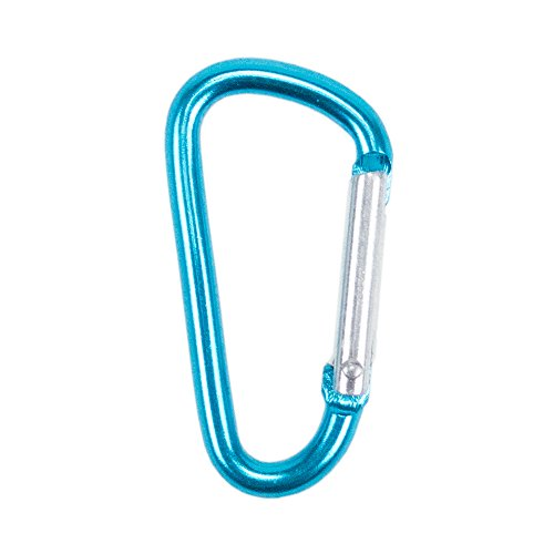 """Hook Bracelet Buckle (Craft County Colorful 40mm D Shaped Spring Loaded Snap Hook Aluminum Gate 1.5"""" Mini Carabiner Keychain Clip - Multiple Color Options - Pack Size Options)"""
