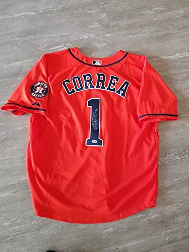 Carlos Correa Autographed Houston Astros Baseball Jersey PSA/DNA Certified Ab63679