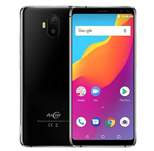 Unlocked Cell Phones, Smart Phone AllCall S1 2GB RAM 16GB ROM Mobile Phone 5.5 inch Android 8.1 MTK6580A Quad Core Four Camera Dual 8MP+2MP 5000mAh Smartphone ()