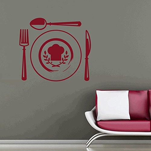 dreamkraftカトラリー壁装飾アートステッカービニールデカールホームデコレーションリビングルーム&キッズ寝室(24 x 22インチ用) B07C7R783R