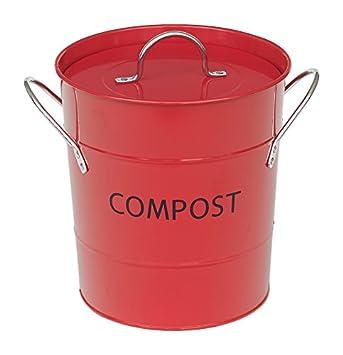 VICTOR Kompost Eimer mit Liner, rot: Amazon.de: Küche & Haushalt