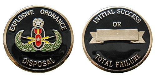 """Explosive Ordnance Disposal (EOD) """"Initial Success or Total Failure"""" Collectible Challenge Coin / Logo Poker / Lucky Chip"""