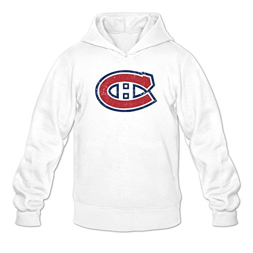 Classic Update Hoody (Men's Montreal Canadiens Classic Logo Cool Hoodie White Large)
