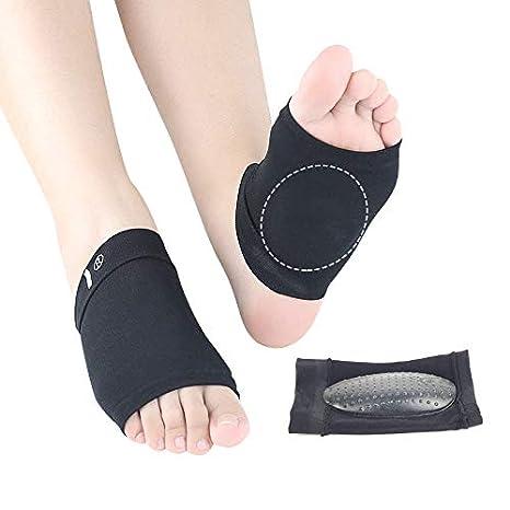 Skudgear Foot Care Plantar Fasciitis Arch Support Sleeve Cushion Heel Spurs  Neuromas Flat Feet Orthopedic Pad Foot Arch Orthotic Tool (Rugged Black