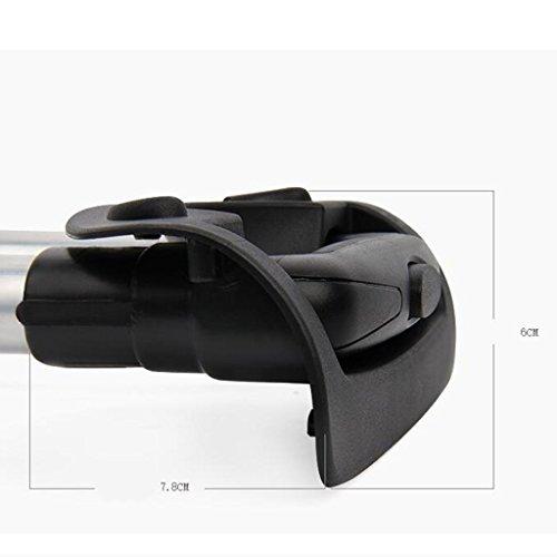 0d430ac629fd gazechimp Luggage Handle Suitcase Replacement Case Aluminium Alloy ...