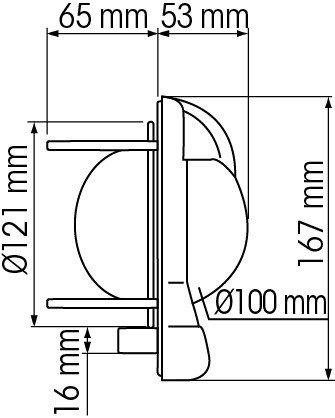 NAUTOS 39669 - CONTEST 130 COMPASS - VERTICAL MOUNT - BLACK BEZEL WITH BLACK CARD-PLASTIMO by Nautos