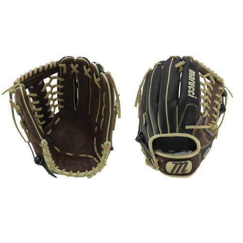 Marucci MFGHG1275T-KR-RG Honor The Game Series Baseball Fielding Gloves, Black/Gumbo, 12.75'
