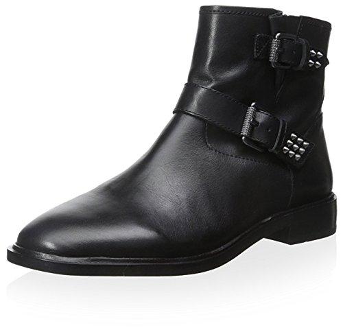 Ash Women's Punky Wedge Boot, Black, 41 M EU/11 M US
