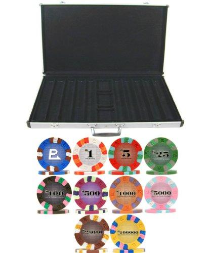 (Nexgen PRO Classic 9gm 1000 Chip Poker Set with Aluminum Case)