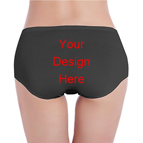 Custom Women's Underwear Womens Boxer Briefs Innerwear For Womens Ladies Lingerie Women Low Waist Underwear Boxer Briefs (Black, Small)