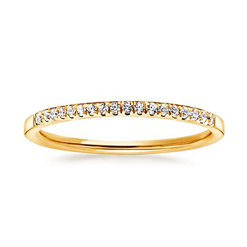 18k Gold Pave Set - Samie Collection Meghan Markle Engagement Rings Inspired by Royal Wedding: 3.67ctw 3 Stone Cubic Zirconia & Simulated Gemstone Promise Ring: 18K Yellow Gold, 18K Rose Gold & Rhodium Plating, Size 5-10