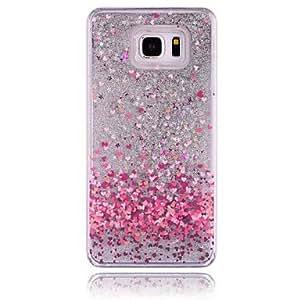 Amor Patrón PC estereoscópica estrellas arenas movedizas Buzón de teléfono para Samsung Galaxy Nota 3/4/5(Varios Colores)