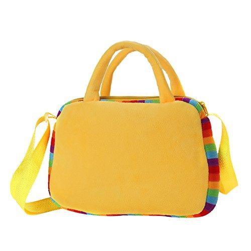 Kinder Handtasche Schultertaschen Kindertasche Plüsch Kinder Tasche Kind Umhängetasche Mädchenhandtasche Geldbörse (9 Gelb) 6 Gelb
