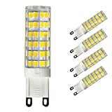 [4-Pack] G9 LED Bulb Dimmable, Replace 60-75 Watt Halogen Bulb, 5W 700Lumens, 6000K Daylight, AC 110V-130V
