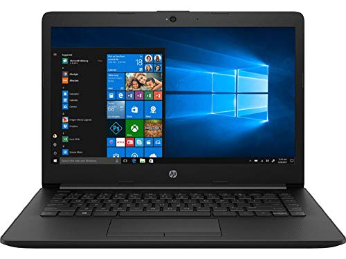 HP 14 Pentium Gold 14-inch Thin and Light Laptop (4GB/256GB SSD/Windows 10 Home/MS Office/Jet Black/1.47 kg), 14q-cs0018TU