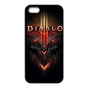 Diablo for iPhone 5,5S Cell Phone Case & Custom Phone Case Cover R69A650935