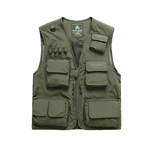 Yaxuan Outdoor Men's Hiking Vest Spring Fall Multi-Pocket Camping & Hiking Apparel & Accessories Top Photography Fishing/Breathable - 1 Waistcoat
