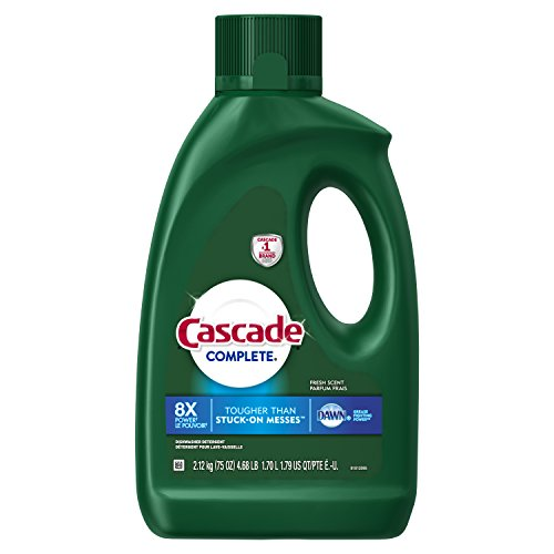 Automatic Cascade Dishwasher (Cascade Complete Gel Dishwasher Detergent, Fresh, 75 oz (Packaging May Vary))