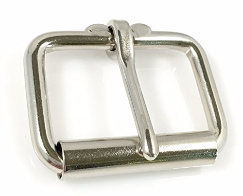 Dangerous Threads Heavy Duty Roller Buckle - Nickel Finish - Various Sizes (2 Pieces, Nicke - 1 & 3/4