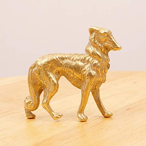 Figurine Borzoi (Restored by UKARETRO Borzoi/Russian Wolfhound || Vintage Dog Sculpture Statue || Solid Brass Figurine/Statuette || Brass Dog)