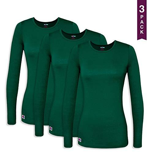 Sivvan 3 Pack Women's Comfort Long Sleeve T-Shirt/Underscr