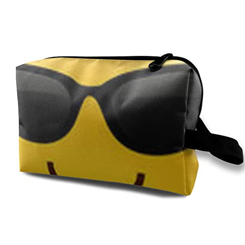 Sun Face Spinner - Danny Lopeze Skincare Portable Cool Sunglasses Face Makeup Bag Travel Purse with Zipper for Women Skincare Cosmetic Pouch