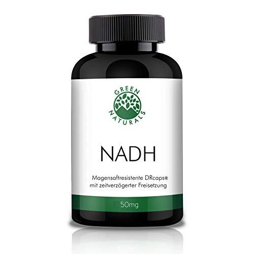 GREEN NATURALS 50mg NADH - 60 magensaftresistente DR-Caps/Kapseln á 50mg aus deutscher Herstellung – 100% Vegan & Ohne Zusätze
