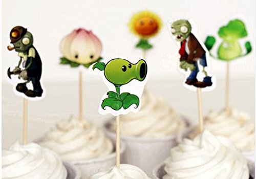 Price comparison product image Plants vs Zombies Assorted Cupcake Picks Set of 12