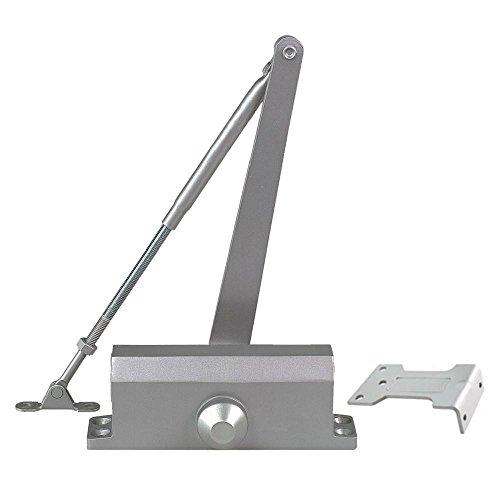 Global Door Controls TC303-PA-AL Size 3 TC300 Series Light Duty Door Closer with Parallel Arm Bracket in Aluminum by Global Door Controls
