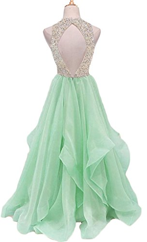 Green Chiffon Light Prom TBGirl KeyHole Sweet Beaded Dresses Gown Party Gorgeous 16 HHvXqP