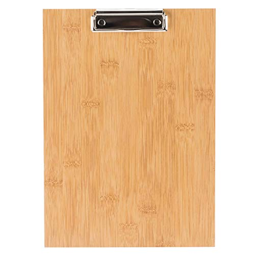 6-Pack 12 1/2'' x 9'' Natural Wood Menu Holder with Clip - Attractive Natural Wood Finish by HEDY4LESS