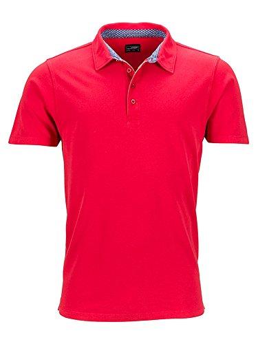 dettagli bianco con blu Polo da rosso uomo tendenza wt66Bf