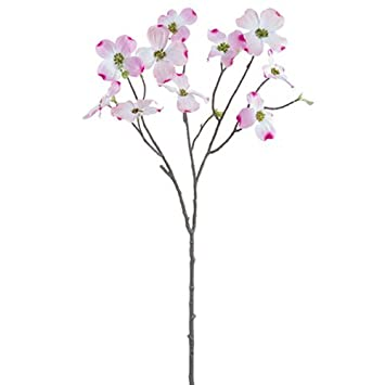 Amazon 27 dogwood silk flower stem pink pack of 24 home 27quot dogwood silk flower stem pink pack mightylinksfo Image collections