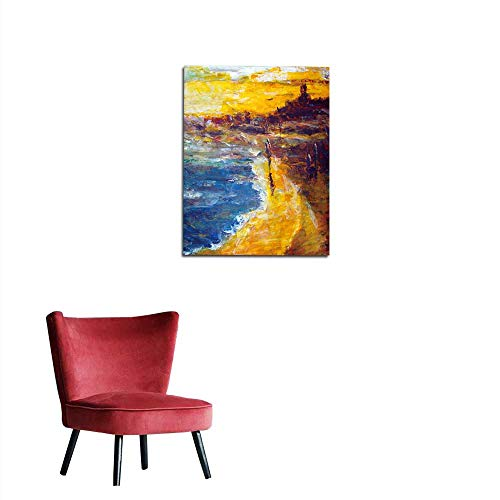 Wallpaper Original Oil Painting on Canvas for giclee Mural 20
