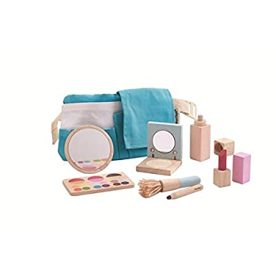 PlanToys Pretend Play Makeup Playset (3487) | Sustainably Made from Rubberwood and Non-Toxic Paints and Dyes: Toys & Games