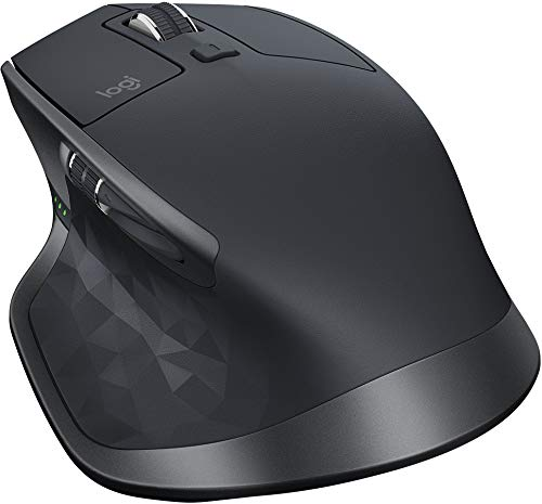 Logitech MX Master 2S Wireless Mouse with Flow Cross-Computer Control and File Sharing for PC and Mac, Graphite by Logitech