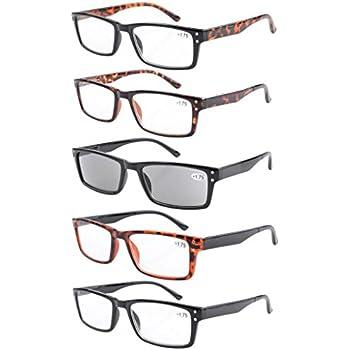 d564382f6e4d Eyekepper Spring Hinge 5-pack Retro Style Reading Glasses Include Sun  Readers +2.25