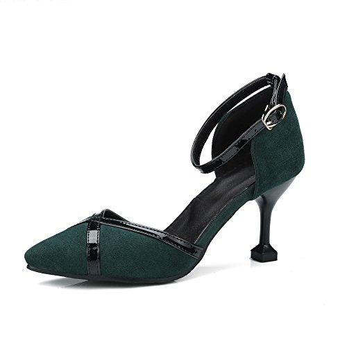 Foncé Compensées Vert Femme AdeeSu SLC04244 Sandales BEXwxqxZp