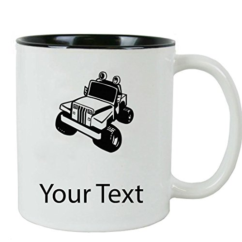 Personalized Custom Jeep White Ceramic Coffee Mug with Gift Box