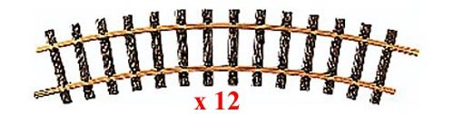 LGB 15000 Curved Track, R2, 30 Degree - 12 Piece Box